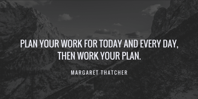 project planning quotes margaret thatcher
